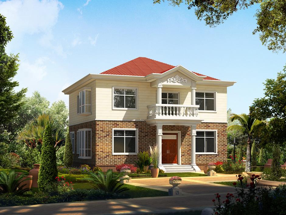 pr190 农村二层小别墅-六卧室别墅设计,新农村房屋设计,农村自建房图片